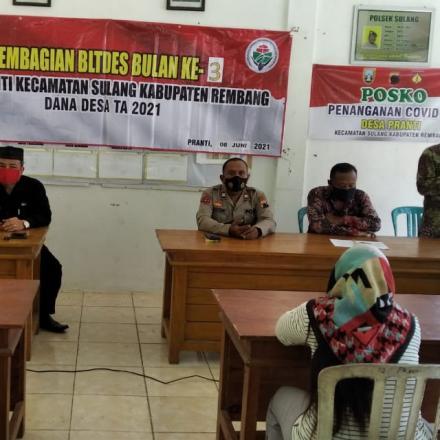 Penyaluran Bantuan Langsung Tunai (BLT)DD Tahap III